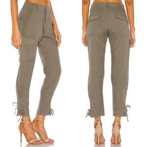 Joie Telutci Linen Pant in Fatigue Olive, 00